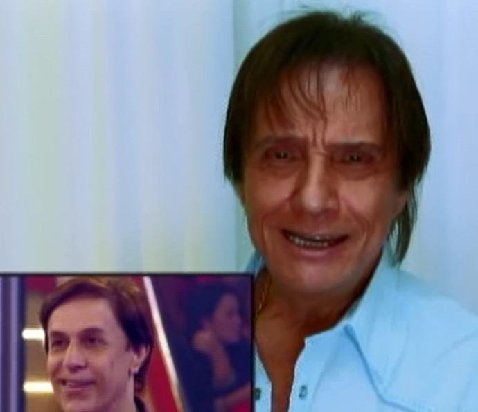 Roberto Carlos manda recado para Tom Cavalcanti (Foto: TV Globo)