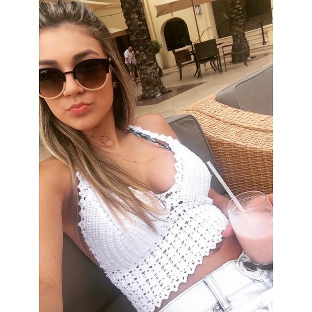 Bruna Santana, irmã de Luan Santana, em Curaçao (Foto: Instagram/ Reprodução)