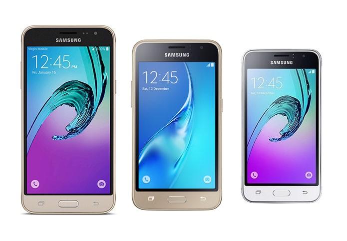 Galaxy J3, J1 e J1 mini possuem Android Lollipop e processador quad-core (Foto: Reprodução/Elson de Souza)
