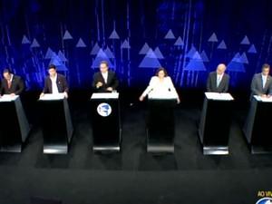Candidatos discutiram propostas em debate da TV Aratu (Foto: Reprodução / TV Aratu)