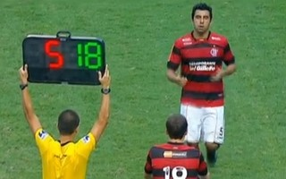 Frame Bottinelli Flamengo 3 x 2 Fluminense 2011 (Foto: Reprodução / SporTV)
