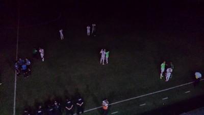Estádio ficou sem energia aos 43 do segundo tempo (Foto: Jadir Souza/TV Grande Rio)