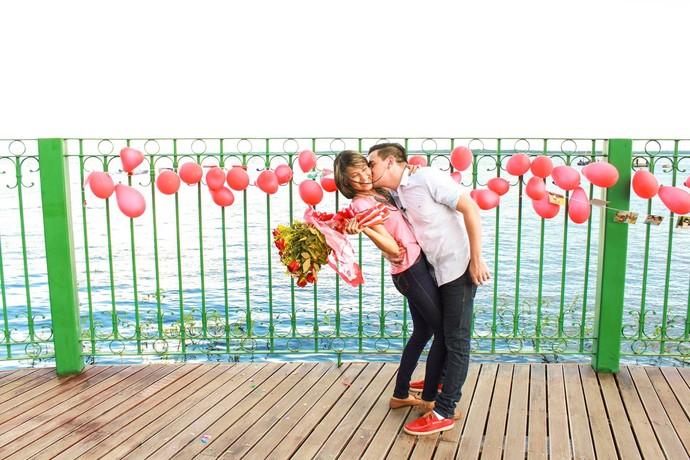 Pedido de casamento no 'Zappeando' (Foto: Michell Mello)