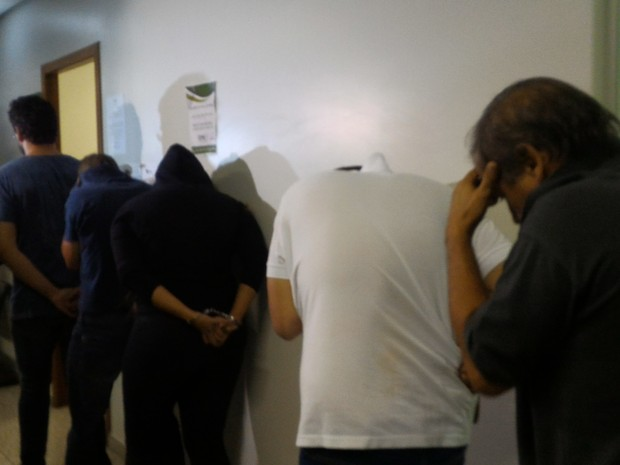 Presos por fraudes em concurso para delegado participam de audiência em Goiás (Foto: Vanessa Martins/G1)