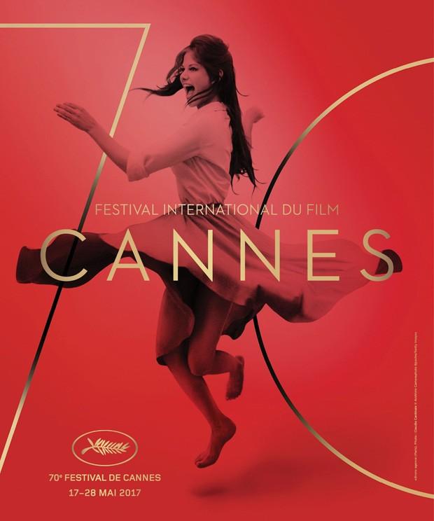 Cartaz oficial da edição 2017 de Cannes, com Claudia Cardiale (Foto: Divulgação)