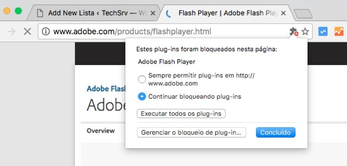 Caixa de alerta no Google Chrome (Foto: Reprodução/André Sugai)