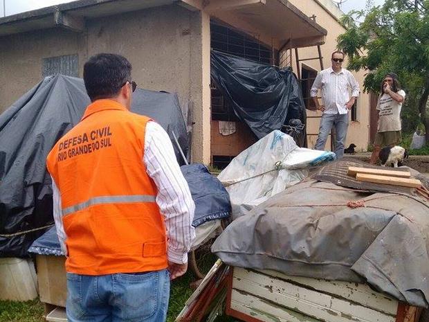 Defesa Civil faz levantamento de cidades atingidas pela chuva no RS (Foto: Divulgação / Defesa Civil )