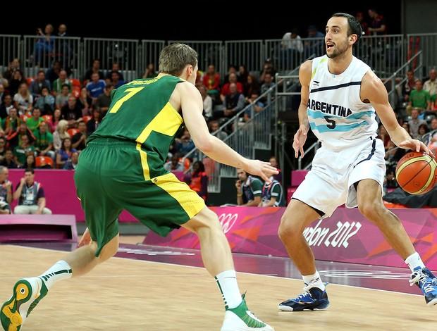 Manu Ginobili, Argentina x Lituânia (Foto: Agência Getty Images)