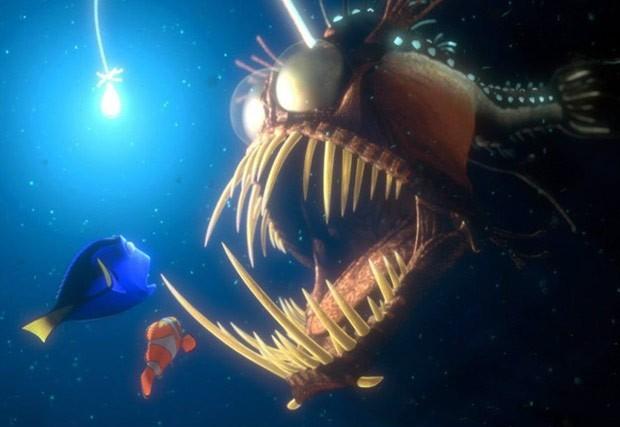 Filme Procurando Nemo mostra esse tipo de peixe abissal (Foto: Reprodução)