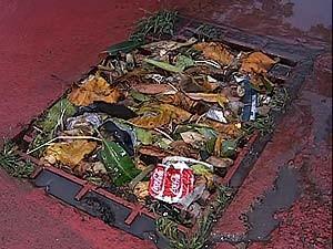 Chuva de duas horas faz vários estragos em Uberlândia, MG (Foto: Reprodução/TV Integração)