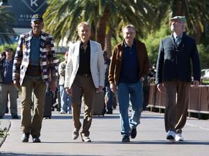 Michael Douglas, Robert De Niro, Morgan Freeman e Kevin Kline em 'Última viagem a Vegas' (Foto: Divulgação)