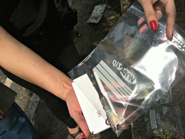 Pincel foi encontrado próximo a aves mortas, segundo Dema (Foto: Camila Henriques/G1 AM)