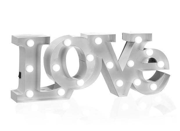 Letras Dec Love Led 38x14cm, Etna, R$ 149,90. (Foto: Divulgação)