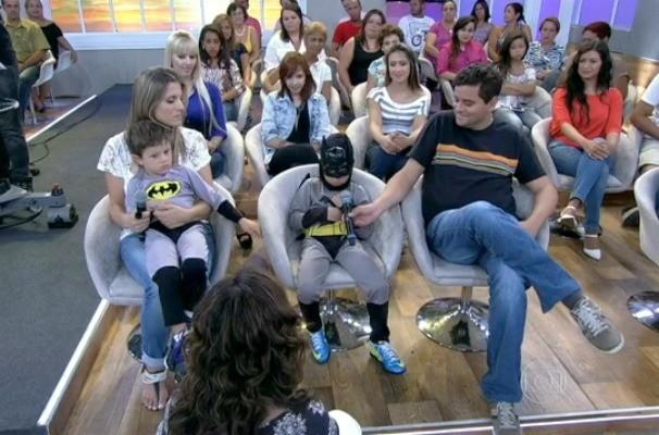 Daniel e João Pedro no Encontro com Fátima Bernardes (Foto: Reprodução/RBS TV)