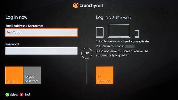 Clique em Log In e coloque seus dados de E-mail ou Nome de Usuário e senha (Foto: Reprodução/Tais Carvalho)