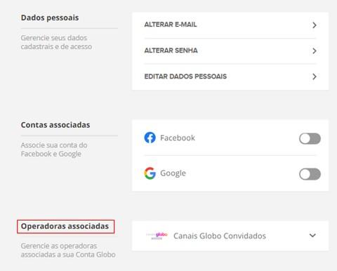 Operadora Associada - Canais Globo (Foto: Canais Globo)