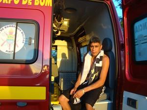 Motorista do caminhão, Erisvaldo Cordeiro, 30 anos (Foto: Ellyo Teixeira/G1)