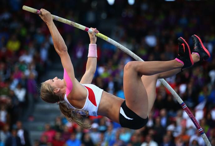 Kira Grünberg Áustria salto com vara (Foto: Ian Walton/Getty Images)