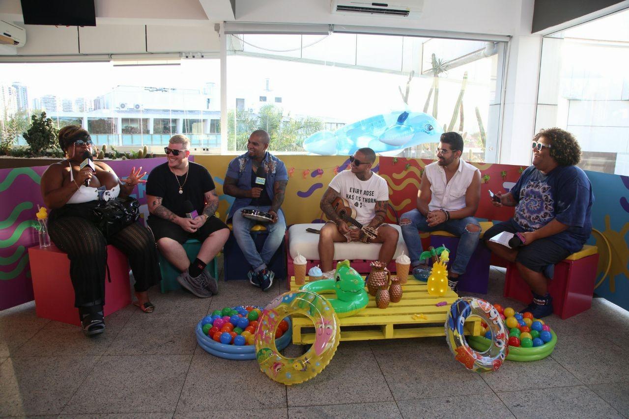 dia de pagode no TVZ Vero: Dilsinho, Ferrugem, Suel e Rodriguinho comandam o programa desta quarta (24) (Foto: Fabiano Leone/Multishow)