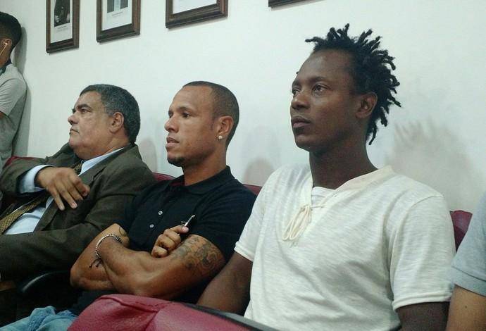 Luis Fabiano e Andrezinho julgamento (Foto: Fred Huber)