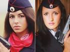 Policiais russas fazem sucesso com fotos publicadas no Instagram