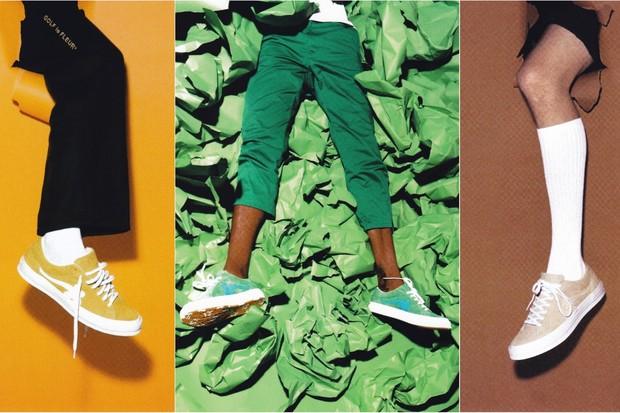 A nova linha Golf le Fleur Converse, collab entre a marca e Tyler, The Creator (Foto: Divulgação)
