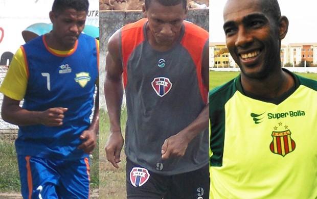 Jackson, Arlindo Maracanã e Pires são estrelas do futebol maranhense (Foto: Montagem/Globoesporte.com)