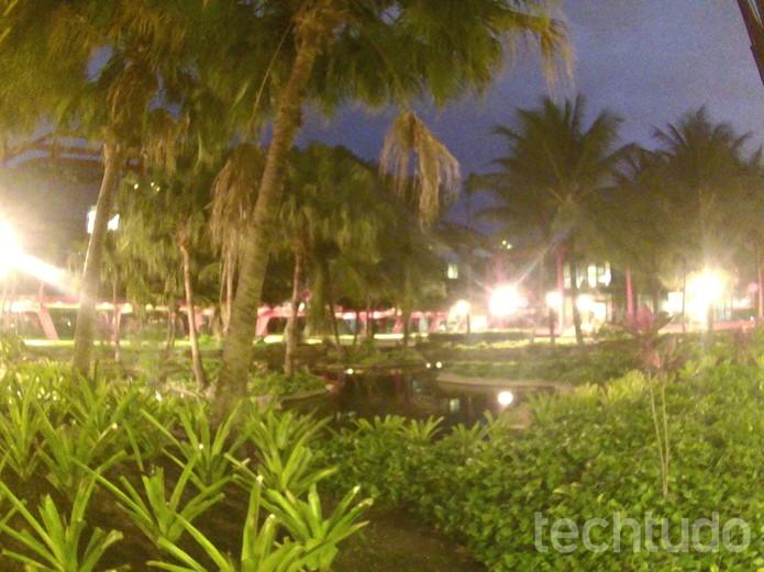 Foto tirada com a Onn em ambiente noturno (Foto: Luciana Maline/TechTudo)