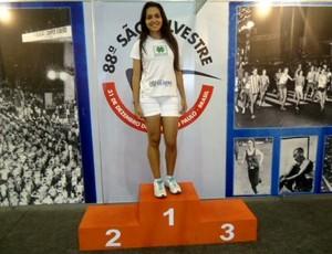 Daniela venceu a 88ª Corrida de São Silvestre na categoria 18/19 anos (Foto: Daniela Souza Paz/Arquivo Pessoal)