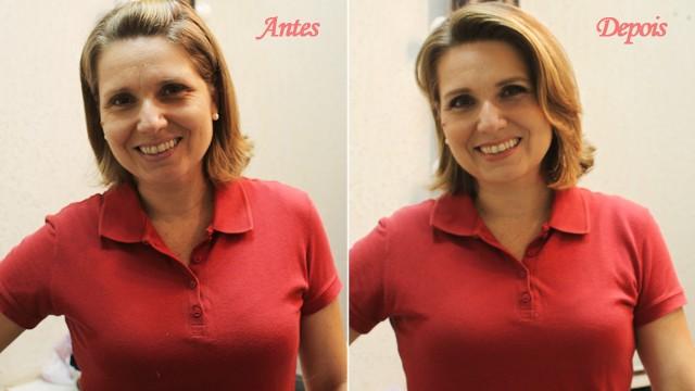 Antes e Depois de Vanessa Faro (Foto: Priscila Martinez)