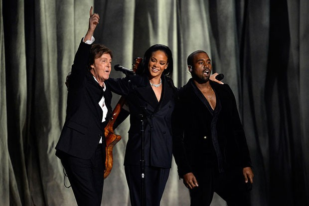 Paul McCartney, Rihanna e Kanye West (Foto: Getty Images)