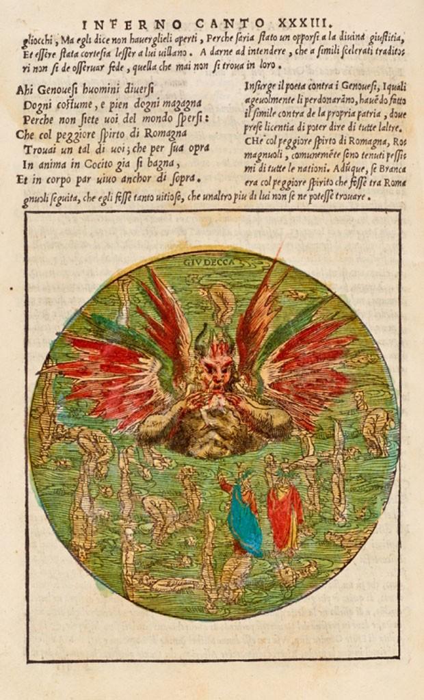 """Ilustração """"La comedia di Dante Alighieri (1544) (Foto: Reprodução)"""