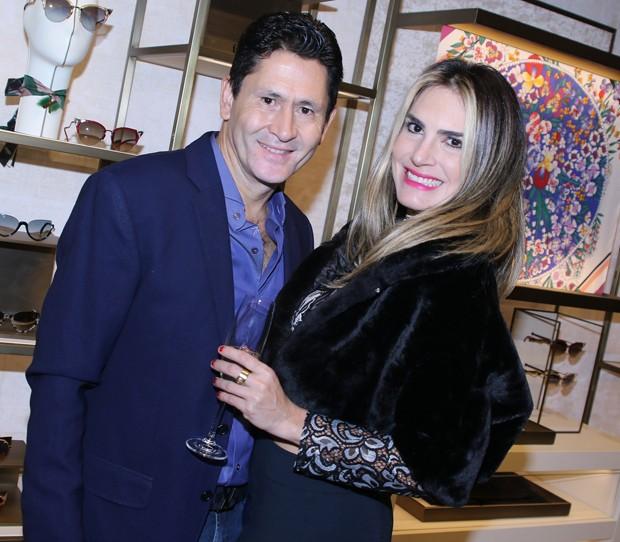 Gian e a namorada, Barbara Brum (Foto: Thiago Duran/AgNews)