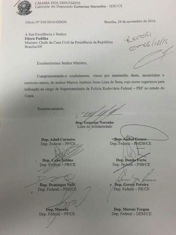 Força-tarefa: nove deputados pedem nomeação de chefe da Polícia Rodoviária no Ceará (Foto: Reprodução )