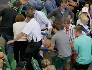 Sogro de Murray entra em colapso durantejogo no Aberto da Austrália (Foto: Getty Images)