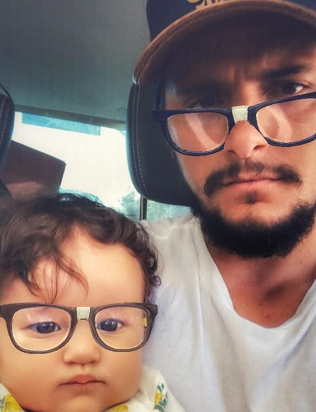 Bruno Gissoni e a filha, Madalena  (Foto: Reprodução)