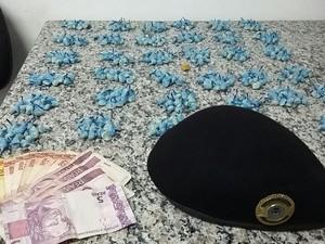 Suspeito foi abordado no bairro Vante (Foto: Divulgação/Guarda Municipal)