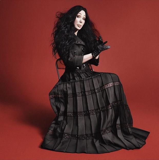 Cher na campanha de inverno 2015 da Marc Jacobs (Foto: Reprodução / Instagram)