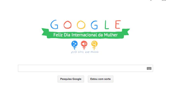 Doodle em homenagem ao Dia Internacional da Mulher (Foto: Reprodução/Google)