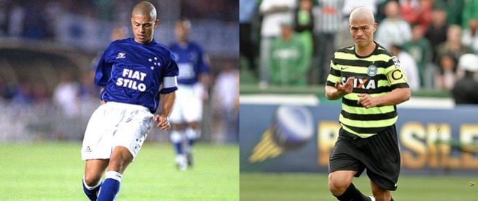 Alex, pelo Cruzeiro e pelo Coritiba (Foto: Arte / GloboEsporte.com)
