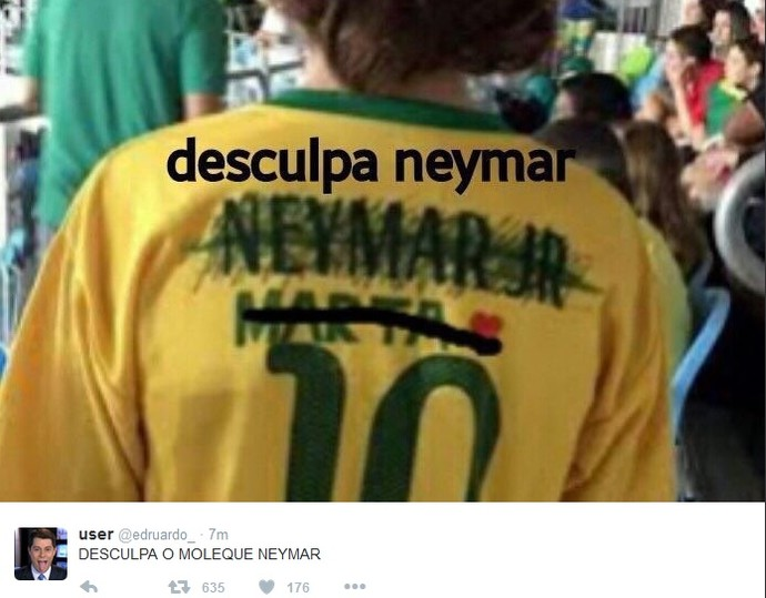 Desculpa Neymar (Foto: reprodução)