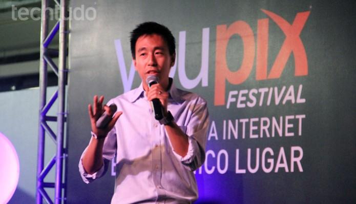 O diretor da Spotify, Gary Liu, veio ao Brasil pela primeira vez para o youPIX 2014 (Foto: Renato Bazan/TechTudo)