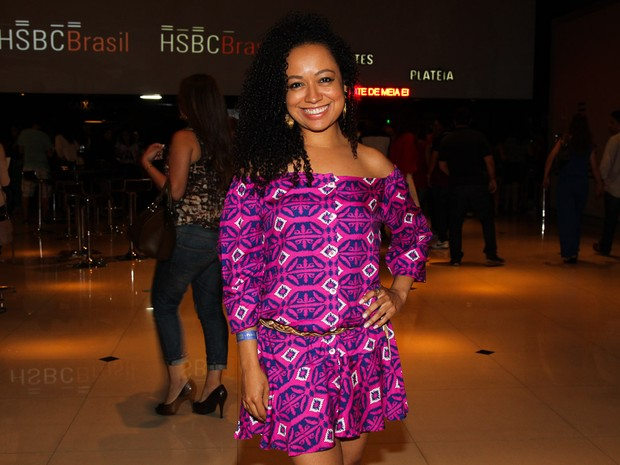 Aretha Oliveira em teatro em São Paulo (Foto: Manuela Scarpa/ Foto Rio News)