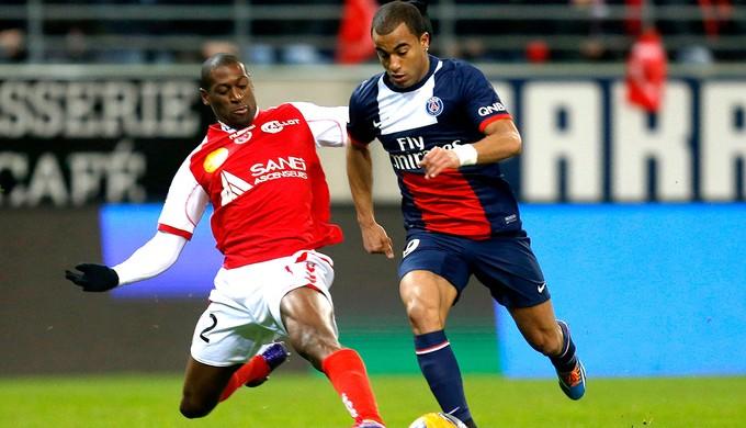 Lucas partida PSG contra Reims (Foto: Reuters)