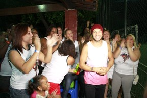 Aniversário do Belo (Foto: Isac Luz / Ego)