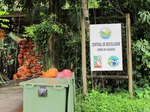 Centro que recicla lixo produzido pelos proprietários (Foto: Mariane Rossi/G1)