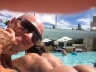 Marido de Michelly Crisfepe mostra ex-BBB fazendo topless