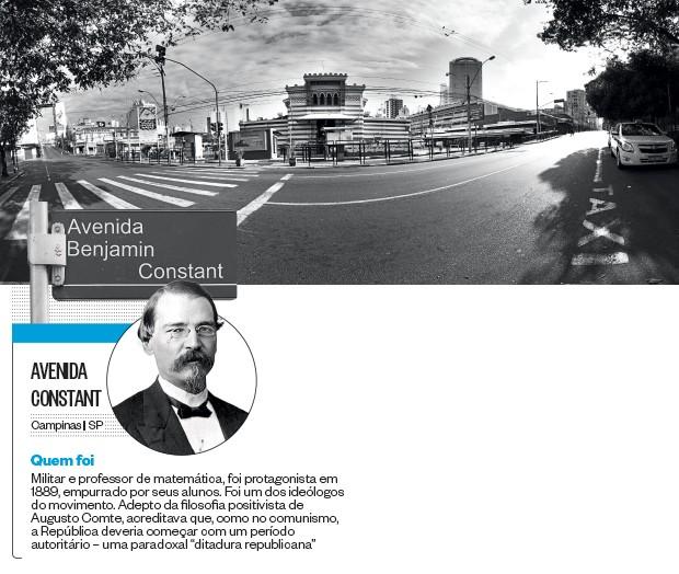Avenida Constant (Foto: Rogério Cassimiro/ÉPOCA e reprodução)