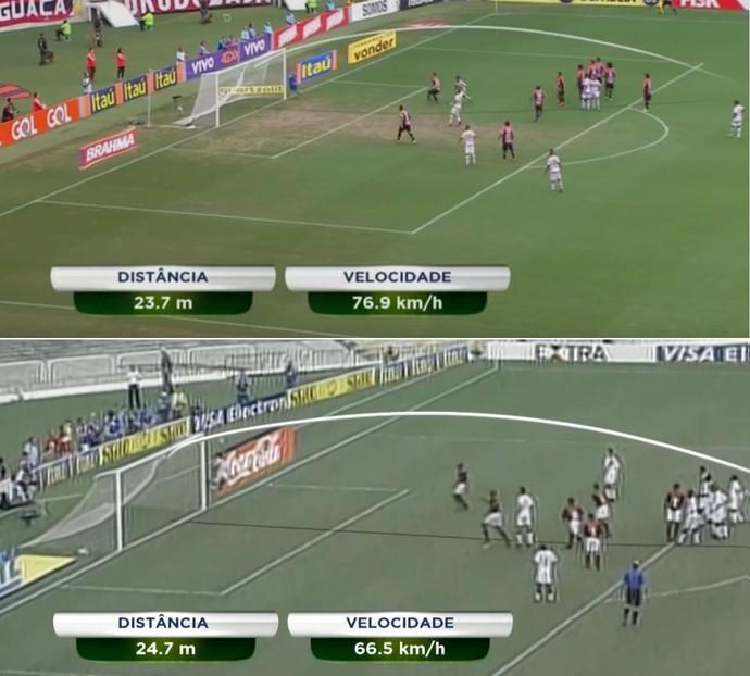 Gols Flamengo Ayrton e Petkovic (Foto: Reprodução SporTV)