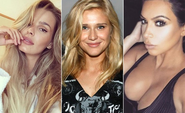 Yasmin Brunet, Celina Locks e Kim Kardashian (Foto: Instagram / Reprodução - Celso Tavares / ego - Instagram / Reprodução)